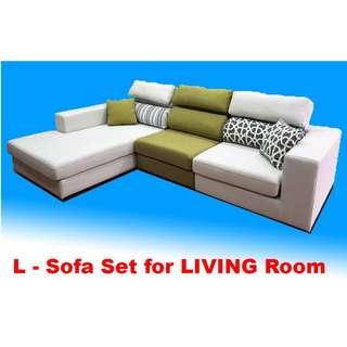 Living Room Sofa Set, Adjustable Headrest
