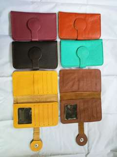 Leather card holders.