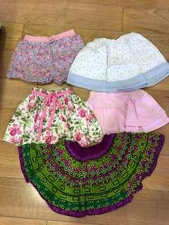 Girls skirt age:2-3