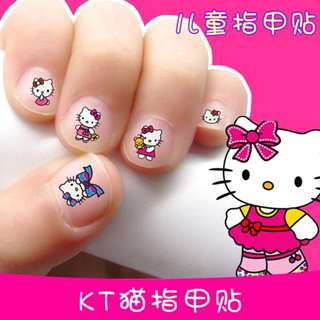 Kids Hello Kitty Nail Stickers Cute Cartoon Nail Art