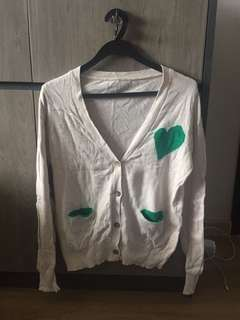 Basic Grey Brown Long Sleeve Cardigan