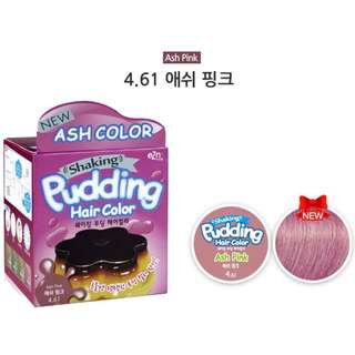 Pudding ash pink korean hair dye