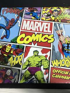 Marvel comics calendar 2018