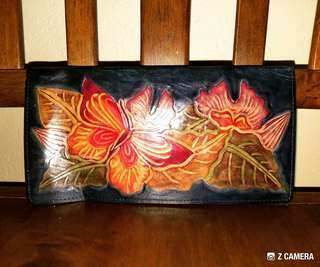 Wallet Floral Painting Unbrand