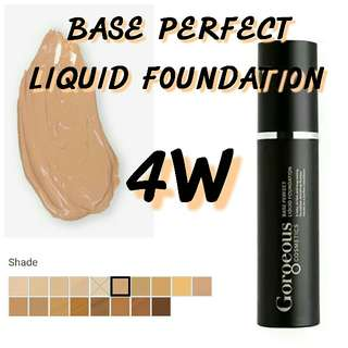 GORGEOUS COSMETICS base perfection LIQUID FOUNDATION 4W