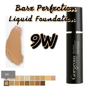 GORGEOUS COSMETICS base perfection LIQUID FOUNDATION 9W