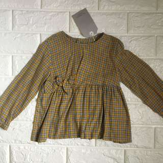 Zara checkered longsleeves top