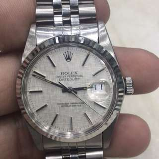Rolex 16014Datejust SN 80xxxx 布紋面全原裝靚仔行走正常