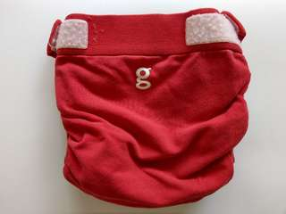 G-diaper Red + Cloth Inserts Large