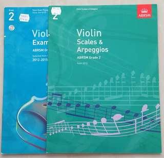 ABRSM Violin Exam & Scales books (GRADE2)