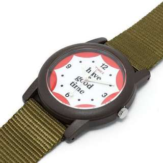 Beams Timex have good time 限量 別注 軍錶 尼龍 軍綠