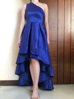 Evening gown electric blue