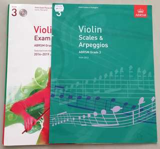 ABRSM Violin Exam & Scales books (GRADE3)