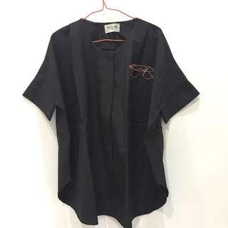 Glasses Batwing blouse