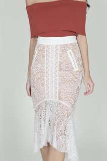 MDS COLLECTIONS FISHTAIL LACE MERMAID SKIRT