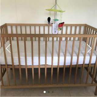 Baby Cot with Mattress- Ikea