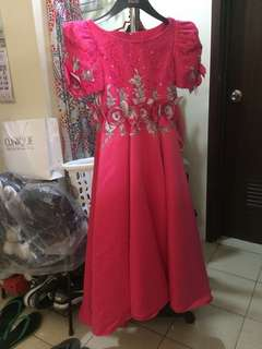 Pink Filipiniana For Young Girls