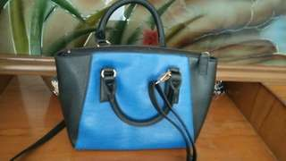 Tas blue black
