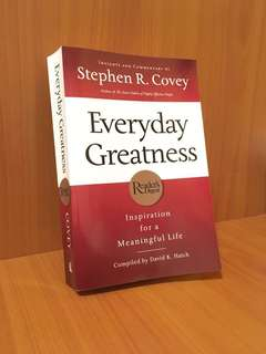 Everyday Greatness by Stephen R Covey