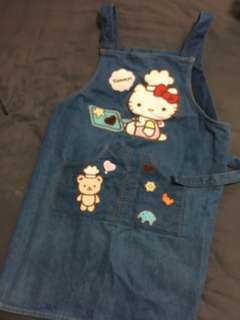 Hello kitty denim apron