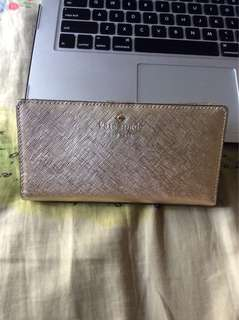 Repriced! 🎉 💯AUTHENTIC Kate Spade Gold Wallet