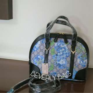 jual tas Gucci Rounded Flower Blue MIRROR QUALITY - black