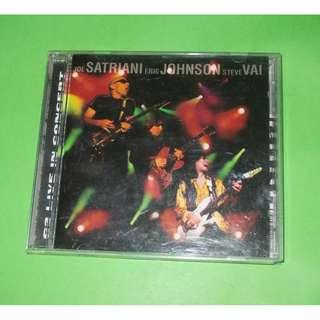 CD JOE SATRIANI : G3 LIVE IN CONCERT ALBUM (1997) HARD ROCK INSTRUMENTAL VAI
