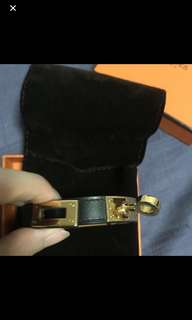 Hermes double tour in black (XS)