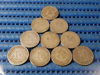 1919 Straits Settlements KGV 10 Cents Coin ( Price Per Piece )