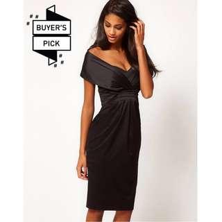 ASOS Off Shoulder Wiggle Dress LBD
