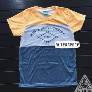 Lightning Cherry Cliff Color Block Tshirt