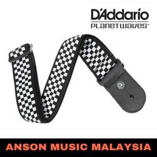 D'Addario Planet Waves Woven Guitar Strap, Check Mate