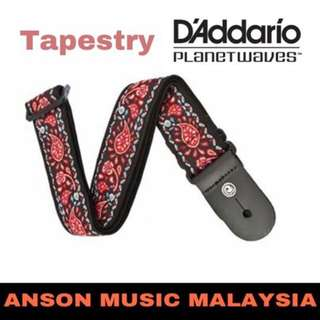 D'Addario Planet Waves Woven Guitar Strap, Tapestry
