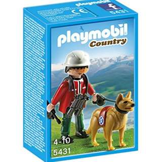 Playmobil 5431: Mountain Rescuer with Dog *Brand New in Box!*
