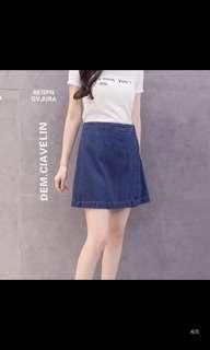 (Uk14,uk16) plus size Denim Skirt