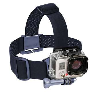 239. USA Gear Head Strap GoPro Action Camera Mount with Stretch-Fit Band