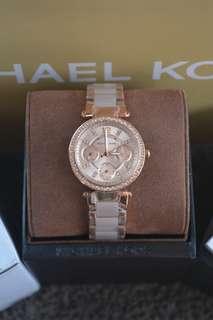 Michael Kors Parker Mini Rosegold-Tone and Blush Ladies Watch (MK6110)