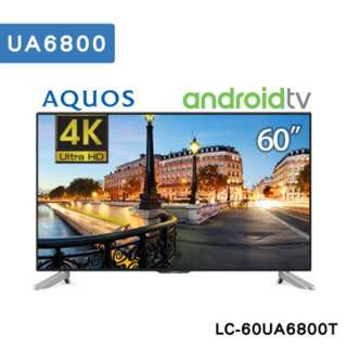 SHARP夏普60吋4K智能連網液晶電視(搭載Android)LC-60UA6800T