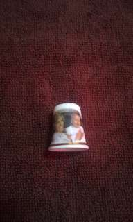 Vintage HRH Prince William 1st Birthday Porcelain Thimble
