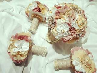 Fabric Boquet for Weddings Debjt and Other Events