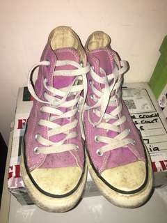 Converse High Tops - purple