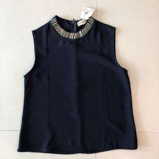 Navy Blue Top Barehands