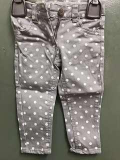 Baby polka dot jeans