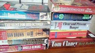Dan Brown and Tom Clancy Novels