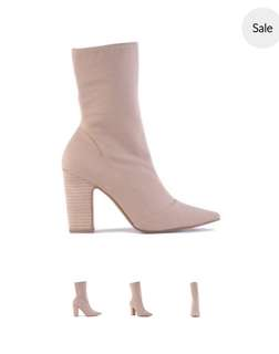 NEW Siren Nude Beige Ankle Boots RRP$180