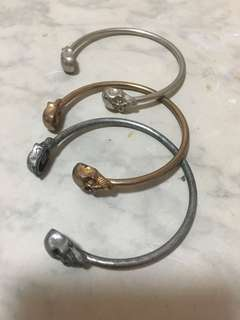 Skull bangles, sell together