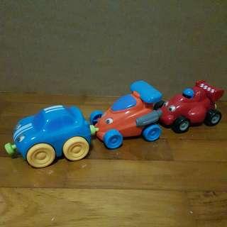 ELC Racing Car Magnetic Trio toy Set