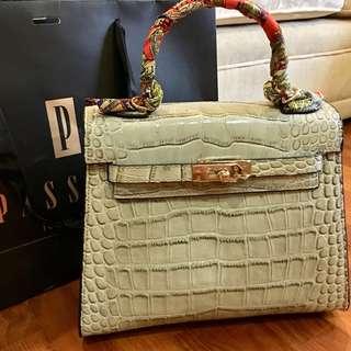 Hermes Kelly look-alike Genuine Leather bag