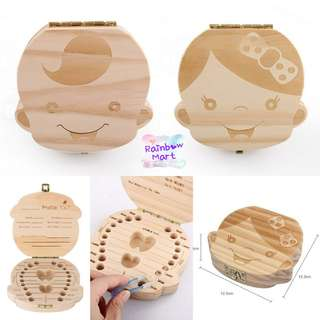 英文版Baby Wooden Tooth Box 牙仔收藏盒