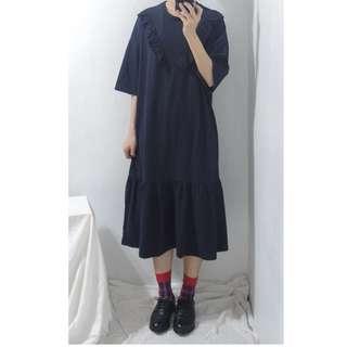 。error dot。韓製藍莓派荷葉洋裝